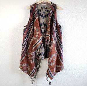 Katie's Kloset Long Fringe Open Vest G17